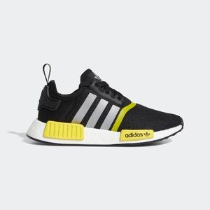 Adidas NMD R1 Black Yellow Youth Size 6